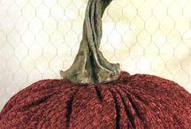 Fabric Velvet Pumpkin Stems Resin