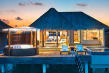 MALDIVES - W Maldives / Iconic blue waters, stunning reefs, and bright white sandy beaches surround the W Resort & Spa. This luxury accommodation blends innovative architecture and contemporary living with island village simplicity.