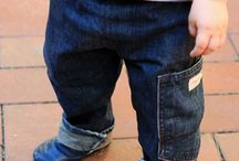 old jeans to toddler's jeans