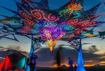 Psy stages & decor / Psy Trance festivals