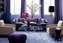 Shades of purple / Purple is a warm and exciting color that adds a mysterious, sexy glam to every room. Dare to be unique and style with purple!