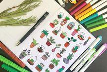 desenhos para bollet e caderno