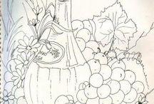 φρούτα περίγραμμα.