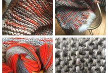 LOVE & WOOL / PLAID tricote à la main