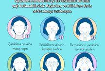 yüz masajı