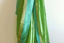 green saree pairings