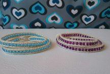 Náramek z korálků Rokajl, wrap bracelet