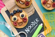 """Super Simple Recipes / It's National Peanut Butter Day! To celebrate, try our Peanut Butter Apple """"Cookies"""" featuring Noodle & Pals! #NoodleCookies"""