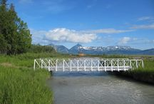 ATV & Snowmobile Bridges / RollingBarge.com, builds all aluminum ATV/Trail Bridges. They are shipped as a kit and can be assembled remotely from lengths out to 48 feet.