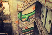 street art / sidewalk artists