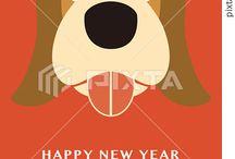 2018 New Year's Card / Graphic Factory〝1712〟の2018年用年賀状テンプレートをご紹介