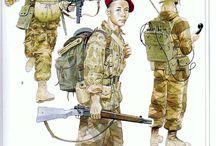 Soldats français / toute epoque excepté période napoléoniennes