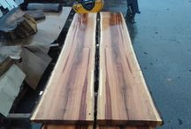 Wooden Slabs Created with Hud-Son Mill / Hud-Son sawmills make excellent DIY tools. You can use them to make some extra money on the side or even as your full-time job! An HFE employee used his mill to make wooden slabs, which can be used for a number of things .. like bar and table top.