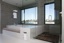 Contemporary modern bathrooms