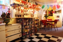 Creative spaces / Art, creation, play and crafty places and areas.   Studios, nooks and crannies where people make magic!