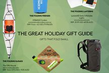 2016 Gift Guide for travellers and campers: BIG gifts that fold SMALL / Lighten up your holiday season with these lightweight, practical, and highly portable items that all fold neatly for easy storage. Perfect for travellers and everyone who loves the outdoors, these must-have gadgets promise to lift the burden of gift shopping from your shoulders.