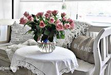 Romantic / romantische Dekorationen, Blumen, shabby chic, vintage, Landhaus