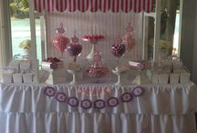 Pink / Purple Lolly buffet / candy buffet / Pink & purple christening / baptism lolly buffet / candy buffet. Styled by Sugarlicious Parties. www.sugarlicious.com.au. www.facebook.com/SugarliciousParties.