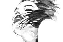 fashion illustration / unique styles and techniques for inspirational fashion illustration