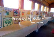 preschool art gallery / 'a celebration of me' art project / by Jacinta Theobald