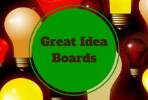 Great ideas~Time~Money Saving Boards> / Boards with great ideas, amazing inventions, money and time savers