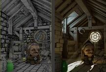 3D/ Wireframe/ Scene
