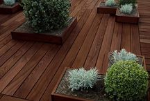 Decking Inspiration / Decking often sends shudders down clients' spines but it need not be the slipping, uninspiring square areas of wood that were so popular in the past. From in-built boardwalks and troughs to lighting and planting there are plenty ways of making a deck a wonderful, unique feature of your garden.