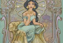 Art Nouveau Disney Princesses / by Pearl Spiller