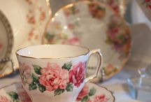fine china with roses