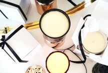 Chalk Design Candles