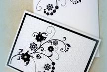 black and white cards / by Kathy Dzelzkalns