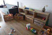 speelgoed opbergen woonkamer