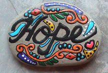 Stone art / create art from stone.