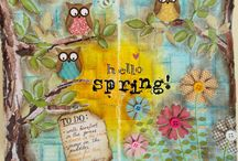 seasons and weather inspiration for art journal sessions / by Catherine Johnson