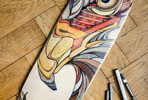 Skateboarding art