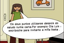 DEBUXANDO ORTOGRAFÍA (II) / Cómics ortográficos dos alumnos e alumnas de Lingua Galega de 6º de Primaria do C.P.R.Plurilingüe Luis Vives Ourense. Segundo Trimestre