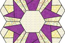 Quilting, - Hexagon quilts ideas/patterns