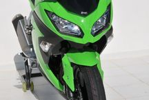 Kawasaki Ninja 300 2013/2017 by Ermax Design / Accessories, Aeromax screen, rear hugger, under tail, seat cover, exhaust