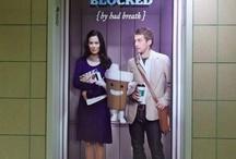 Elevator Door Advertising / Graphics designed, printed and installed on elevator doors.