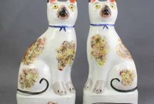 Staffordshire dogs etc.