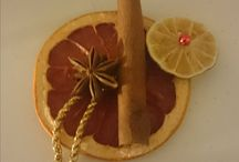 Christmas tree decoration / dried fruits