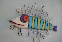 Figur med dekor veggpynt