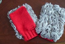 Fingerless Gloves / Our own designs - knitted and crocheted