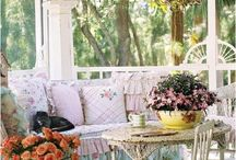 Outside: patio, porch, deck.... oh so shabby / such a short outdoor season here in Oregon, but I want it to be fun!