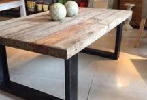 mesas madera salon
