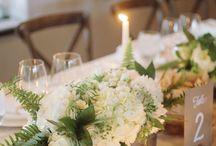 Centres de table avec fleurs