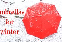 WINTER UMBRELLAS / Heading into winter? Check out our new collection of custom umbrellas in stunning colors and styles that can add Coziness on winter days !