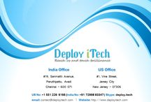 Deploy iTech / We are proficient in the utilization of technology in favor of Desktop Application, Web Application and Tailor-made Products in a lucrative yet value-maximizing manner.