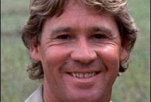 Steve Irwin the crocodile hunter.