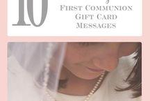 First Communion Gift Card Message Ideas / A wonderful collection of First Holy Communion gift card message ideas.